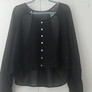 Brandy Melville sheer blouse